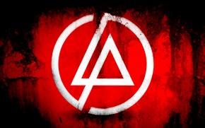 Обои красный, логотип, фон, linkin park