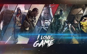 Картинка Call of Duty, The Witcher, Batman, Mortal Kombat, Unity, Arkham Knight, Advanced Warfare, Игоры, METAL …