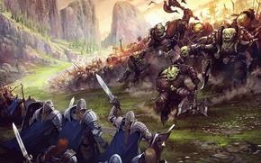 Картинка битва, орки, Underworld War Art Fantasy, battle Art