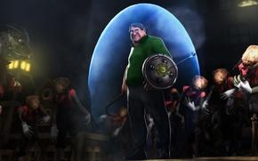 Картинка zombie, Valve, лом, tf2, crowbar, Headcrab, Гейб Ньюэлл, Gabe Newell