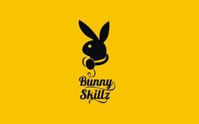 Обои Минимализм, Надпись, Логотип, Yellow, Bunny Skillz