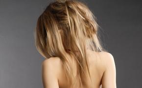 Картинка волосы, спина, Девушка, блондинка, плечи