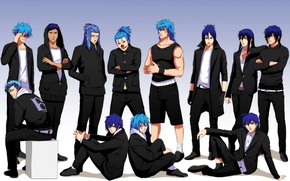 Обои аниме, арт, парни, bleach, d.gray-man, one piece, fairy tail, hakuouki shinsengumi kitan, grimmjow jeagerjaques, katekyo ...