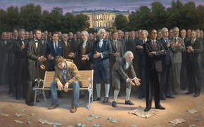 Картинка авраам линкольн, белый дом, Билл Клинтон, джордж бушgeorge bush, вашингтон, барак обама, америки, призиденты, barack …