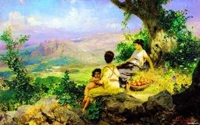 Картинка любовь, природа, девушки