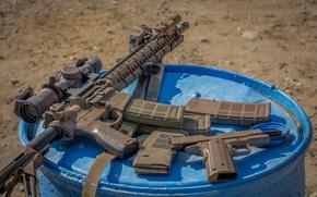 Обои камуфляж, автомат, оптика, полуавтоматическая, Larue Tactical, винтовка, пистолет, штурмовая