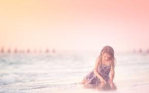 Картинка пляж, платье, девочка, Meg Bitton