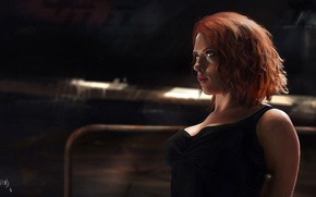 Картинка Scarlett Johansson, рыжая, Скарлетт Йоханссон, Арт, Art, Мстители, The Avengers