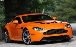 Картинка Aston Martin, Vantage, V12, orange