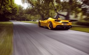 Обои феррари, скорость, Rosso, supercar, дорога, Novitec, Ferrari, speed, 488, Spider, road
