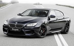 Обои бмв, купе, BMW, черная, Black, Coupe, F06, G-POWER