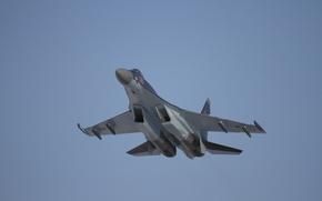 Обои небо, Истребитель, ВВС, России, Су-35С