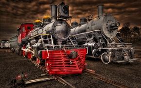 Картинка поезд, паровоз, станция