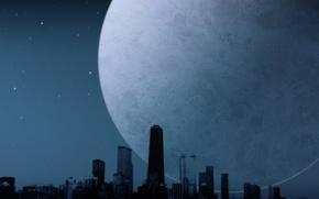 Картинка ночь, одиночество, луна