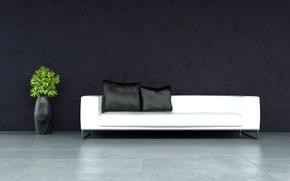 Картинка дизайн, диван, стулья, современный, подушки, design, Интерьер, стильный, chair, вазы, vase, Modern, stylish, couch, Interior, ...