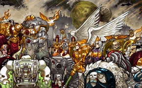 Картинка космодесант, Warhammer 40k, орденов, ересь, император, Астартес, Адептус, примархи, святая, хоруса, терра