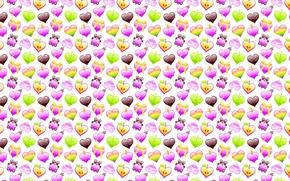Картинка фон, настроение, праздник, сердце, текстура, арт, мишка, конфетка, Валентинов день