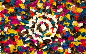 Картинка узор, цвет, объем, пластилин