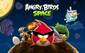 Картинка angry birds, злые птицы, angry birds space