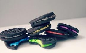 Картинка цвета, макро, печенье, крем, десерт, сладкое, cream, cookies