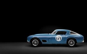 Обои ferrari, 250 gt, berlinetta, tour de france, race car, 1956