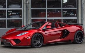 Картинка вид, McLaren, вишнёвый