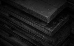 Картинка Доски, Wood, Black, Текстуры, Textures, Boards, Древесина, Wallpaper HD, Чёрный Цвет, Black Color
