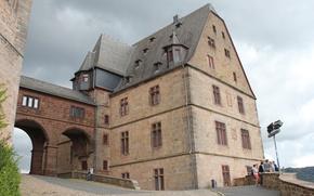 Картинка старина, город, дом, замок, обои, красиво, германия, средневековье, оригинал, марбург