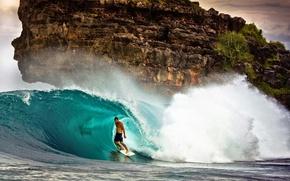 Картинка волна, серфер, серфинг, surfing