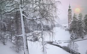 Обои австрия, тироль, зима