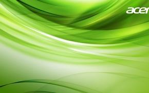 Картинка зеленый, обои, заставка, Acer, асер