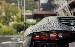 Картинка дождь, Lamborghini, Aventador