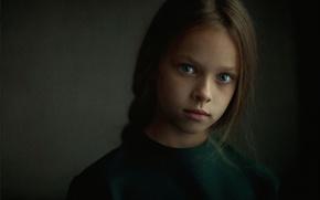 Картинка фон, портрет, девочка, студия