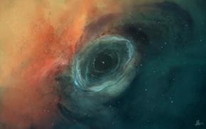 Картинка космос, туманность, звёзды, JoeJesus