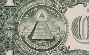 Картинка green, dollar, pyramid