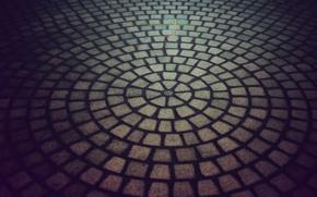 Обои плитка, текстура, камень, дорога, круг, город, текстуры