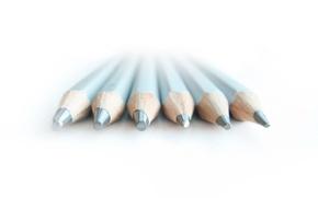 Картинка белый, минимализм, карандаши