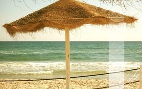 Обои песок, море, волны, пляж, пена, отдых, tunesia, полоса