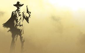 Обои оружие, ковбой, мужчина, фон