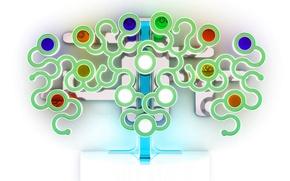 Обои белый, абстракция, Дерево, кружки