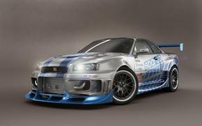Картинка Nissan, Skyline, Shoot, Studio