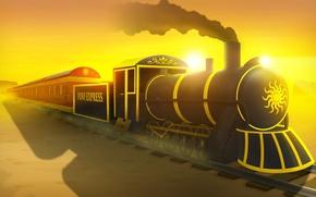 Картинка дорога, поезд, express