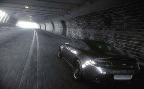 Картинка дорога, машины, дождь, Aston Martin, Car