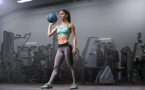 Обои fitness, ball, gym, workout