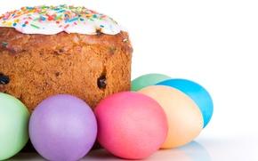 Обои Яйца, Кулич, Праздник, Еда, Выпечка, Пасха