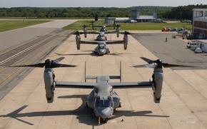 Картинка аэродром, конвертоплан, U.S. Air Force CV-22 Osprey