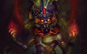 Картинка Blizzard, Art, Diablo 3, Diablo III, Background, Blizzard Entertainment, Witch Doctor, Mask, Video Game, Reaper …