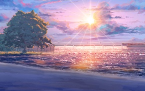Обои пляж, everlasting summer, бесконечное лето, iichan-eroge