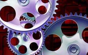 Картинка часы, шестеренки, Абстракция