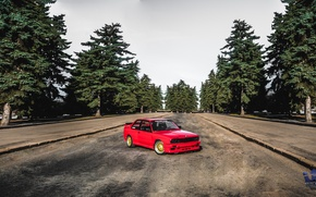 Картинка bmw, red, power, good, russia, moscow, look, e30, stance, motorsport, ironhospital, mgu